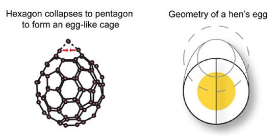 Endohedral carbon-84 Fullerene Egg